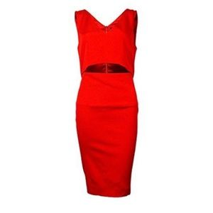 French Connection Scarlet Red Cocktail Dress